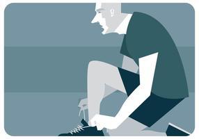 vetor de sapatos de amarração