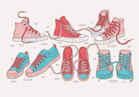 Vetores de sapatilhas de lona