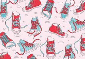 Vetor de padrão de sapato