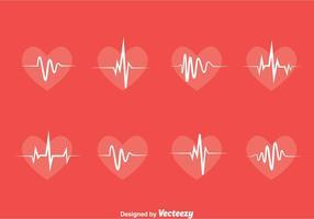 Vector de coleção de ritmo cardíaco