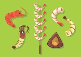 Pacote de vetores de camarão