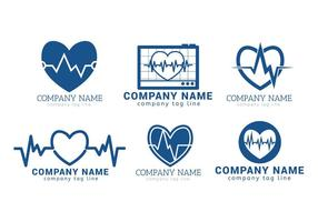 Conjunto de vetores do ritmo cardíaco