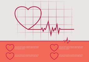 Ilustração do ritmo cardíaco livre vetor