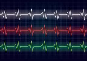 Linha do ritmo cardíaco vetor