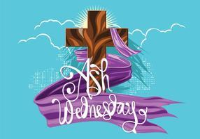 Quarta-feira de Cinzas. Semana Santa. O tempo da Quaresma. Desenhado à mão