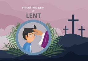 Free The Start of The Season of Lent Illustration vetor