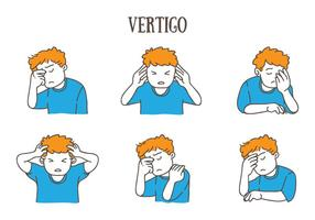 ilustração da vertigem vetor