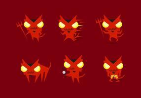viciadores de emoticons emojis dos demônios de lucifer vetor