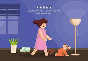 ilustração da nanny vetor