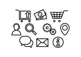 Vetores de linha de ícones da Web grátis