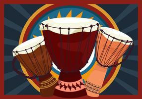 djembe percussão africana vetor