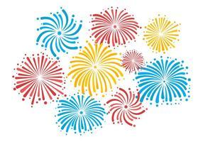 vetor de fogos de artifício colorido grátis