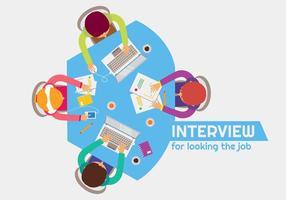 Vetor de reunião e entrevista