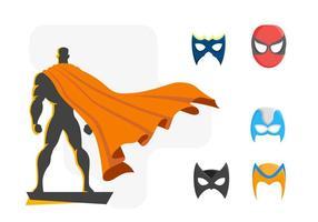 Vetor poderoso dos super-heróis grátis