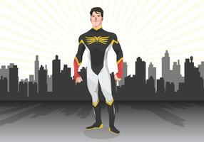 Vetor do super-herói da cidade