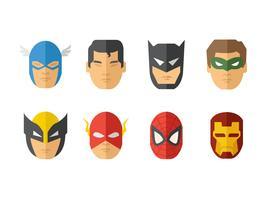 vetor de máscara de super-heróis grátis
