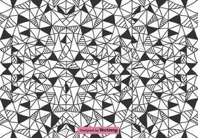 Padrão vetorial de triângulos abstratos vetor