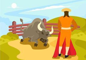 vetor de lutador de touro