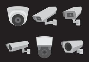 Conjunto de câmeras CCTV vetor