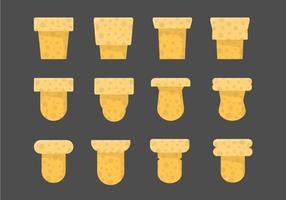 Ícones de vetor de rolha de garrafa
