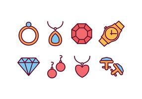 Pacote de ícones de jóias vetor