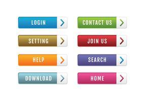 Pacote de botões do site vetor