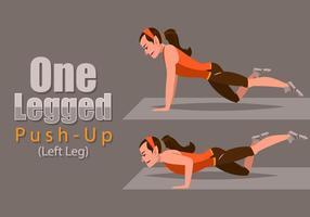 One-Legged Pushup vetor