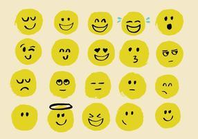 Vetores emoji desenhados mão
