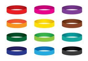 Vetores de pulseira coloridos