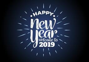 Feliz Ano Novo 2018 Ilustração vetorial de fundo