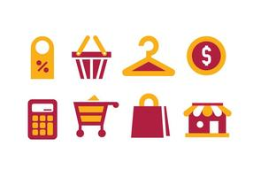 Ícones de vetor de compras