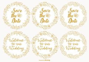 Casamento bonito e salvar as etiquetas de data
