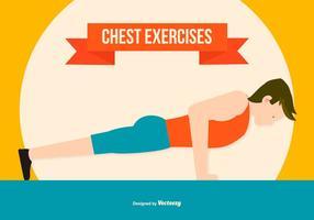 ilustração do estilo plano do exercício do peito vetor