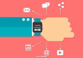 ilustração do wristband do smartwatch vetor