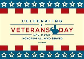Ilustração patriótica do dia dos veteranos