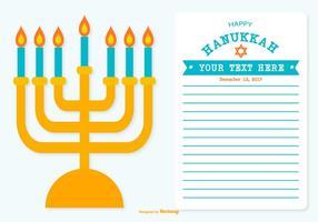Ilustração feliz de Hanukkah vetor