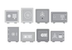 Conjunto de ícones de caixa forte vetor