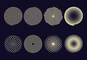 Ícones espirais de hipnose vetor