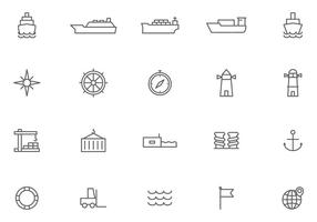 Vetores de porto grátis