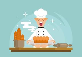 brioche baker illustration vetor
