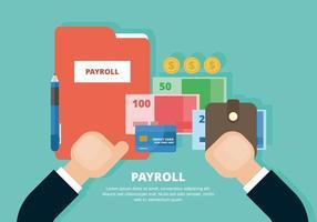 Ilustração da folha de pagamento vetor