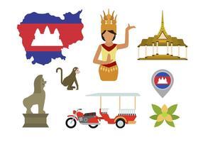 Vetores planos de Camboja