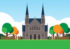 Ilustração das igrejas cristãs vetor