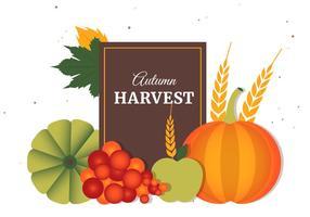 Elementos livres do vetor de colheita de outono