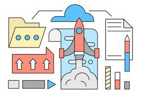 Ilustração de vetor de Startup grátis