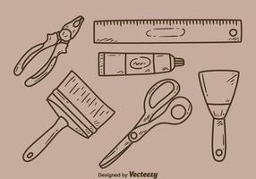Esboço bricolage kit vector