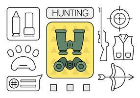 Elementos de caça linear vetor