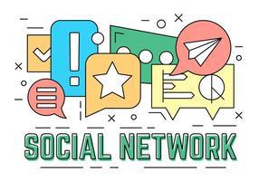 Elementos de rede social gratuitos