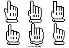 Ícones do cursor do mouse sobre o vetor