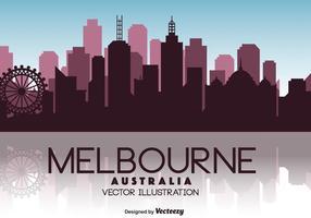 Ilustração do horizonte do vetor de Melbourne